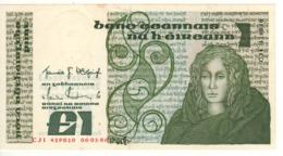 IRELAND 1 Pound   P70c   Dated 06-01-1986   AU/UNC - Ierland