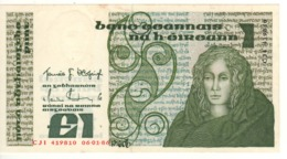 IRELAND 1 Pound   P70c   Dated 06-01-1986   AU/UNC - Irland