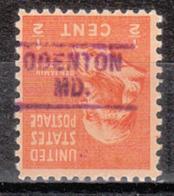 USA Precancel Vorausentwertung Preo, Locals Maryland, Odentown 729 - Vereinigte Staaten