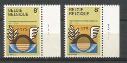1978 - COB N° 1889 - Planche 1-2 ** (MNH) - Plaatnummers