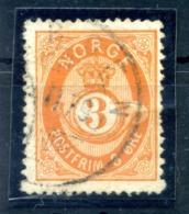 1877 NORVEGIA N.23 USATO - Norvegia