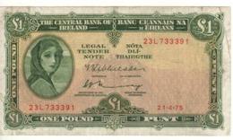 IRELAND 1 Pound   P64c   Dated 21-4-1975 - Ierland