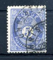 1877 NORVEGIA N.24 USATO - Usati
