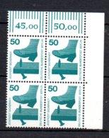 Berlin   408 ** Postfrisch  Reihenzähler 4er Block Rechte Ecke  Unfallverhüttung - Berlin (West)