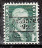 USA Precancel Vorausentwertung Preo, Locals Maryland, Pasadena 729 - Vereinigte Staaten