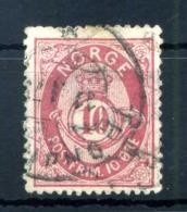 1877 NORVEGIA N.25 USATO - Norvegia