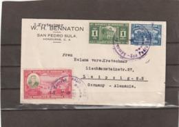 Honduras SAN PEDRO SULA AIRMAIL COVER TO Germany 1938 - Honduras