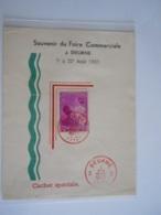 België Belgium Deurne 7-8-1937 Feuillet Blaadje Souvenir Du Foire Commerciale Astrid Boudewijn Baudouin Cob 447 - Unclassified