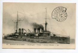 """MARINE CACHET """" Paquebot TOULON  Sur Mer  8 Juin 1913 """"   Cuirassé D'Escadre VOLTAIRE     D12 2019 - Warships"""