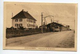 ALLEMAGNE EDENKOBEN TRamway Electrique Wagenhalle Der Strassenbahn écrite Du Village Decembre 1918  D13 2019 - Edenkoben