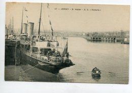 JERSEY ST HELLIER Port Bateau S.S  Victoria à Quai 1910   D13 2019 - Jersey