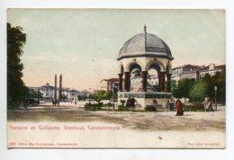 TURQUIE CONSTANTINOPLE Fontaine De Guillaume No 1657 Edit Max Fruchtermann     D13 2019 - Turquie