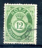 1877 NORVEGIA N.26 USATO - Norvegia