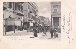 égypte Alexandrie Rue Chérif Pacha Salon De Coiffeur Carvanitaki Timbré Oblitération - Alexandrie