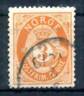 1882-93 NORVEGIA N.37 USATO - Norvegia
