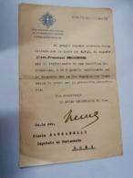1936  GRAN MAGISTERO DELL'ORDINE  DEI SS MAURIZIO E LAZZARO IL PRIMO SEGRETARIO DI S. M. LETTERA  AUTOGRAFATA - Documenti Storici