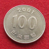 Korea South 100 Won 2001 KM# 35.2  Corea Coreia Do Sul Koree Coree - Korea (Zuid)