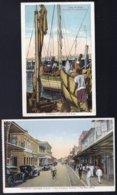 2 X MOZAMBIQUE - MOÇAMBIQUE -  LOURENÇO MARQUES Rua Consiglieri & Doca De Abrigo - Colored Cards - Mozambique