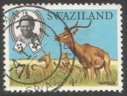 Swaziland. 1968 Animals. 7½c Used. SG 167 - Swaziland (1968-...)