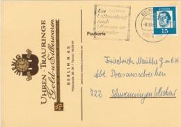 Berlin 1 - Luther - Luftpostbrief Übersee Schneller - Illustrierte Karte (Reliefdruck) Uhren Trauringe - Covers & Documents