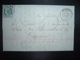 LETTRE (PLI) TP CERES DENTELE 25c OBL. GC 1818 + 14 MARS 72 HYERES (78) (83 VAR) - Marcophilie (Lettres)