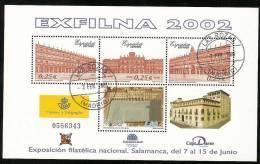 2002-ED.3906 H.B.-EXFILNA'02.PLAZA MAYOR DE SALAMANCA-USADO - Blocs & Hojas