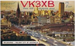 Melbourne - Holiday City Of Australia - Amateurfunkerkarte - 1967 - Melbourne