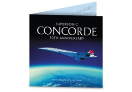 Guernsey Concorde Set 3 50p Coins In Collector Pack - Guernsey