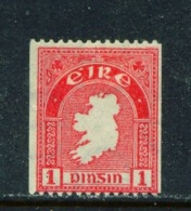 IRELAND  -  1940 - 46 Coil Stamp 1d  Perf 14  Mounted/Hinged Mint - Ungebraucht