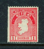 IRELAND  -  1940 - 46 Coil Stamp 1d  Perf 15  Mounted/Hinged Mint - Ungebraucht