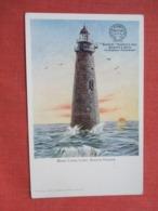 Boston Rubbers Are Beacon Lights In Rubber Footwear Minot Ledge Light Boston Harbor   > Ref 3630 - Werbepostkarten