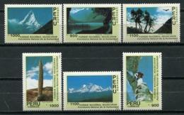 Peru 1989 / Nature National Park Mountains MNH Parque Nacional Naturaleza Montañas / Cu5922  36-61 - Geología