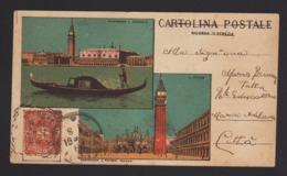 16232 Venezia - Panorama E Gondola - San Marco F_1 - Venezia