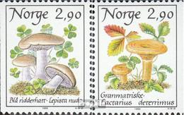 Norwegen 990-991 (kompl.Ausg.) Postfrisch 1988 Pilze - Norwegen