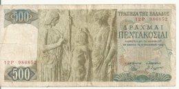 GRECE 500 DRACHMAI 1968 VG+ P 197 - Grecia