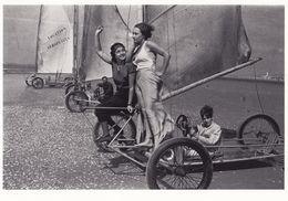 Yacht Beach Tripod Bicycle Racing Device On Sand 1930s Race Aeroplage Postcard - Postkaarten