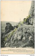 Chemin De Fer Serbe Dans Les Rochers De La HAUTE SERBIE.  CAPAGNE D'ORIENT 1914-18 - Servië