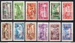 Col10    Grand Liban  N° 63 à 74 Neuf (X) No Gum  Cote : 61,00 Euro Cote 2015 - Great Lebanon (1924-1945)