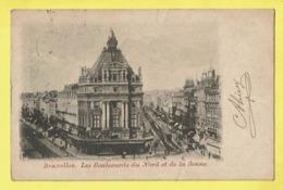 * Brussel - Bruxelles - Brussels * (Wereldpostvereeniging) Les Boulevards Du Nord Et De La Senne, Tram, Vicinal, TOP - Bruxelles-ville