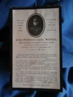 Faire Part Décès De Jules Florimond Louis Morel Général De Brigade De Cavalerie 1912 L463 - Guerra, Militares