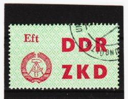 DDR472 DDR 1963 LAUFKONTROLLZETTEL ZKD Michl 4 Gestempelt  ZÄHNUNG Siehe ABBILDUNG - Service