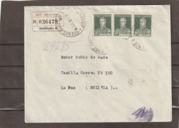 Argentina REGISTERED COVER TO Bolivia 1931 - Posta Aerea