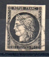 SUPERBE - YT N° 3 BDF - Cote: 65,00 € - 1849-1850 Ceres