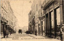 CPA ROANNE Rue Nationale Prise Du Carrefour Helvétique (339506) - Roanne