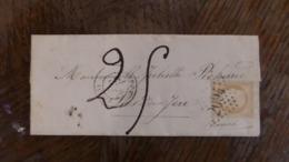 20/09/19-LAC  De LOUDUN  Taxée 25   A VOIR§§ Cachet Perlée Verso De Diron - 1849-1876: Classic Period
