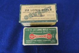 2 Anciennes Boîte De 22lr D'origine - Armes Neutralisées