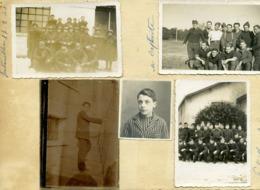 Photos Collées Sur Un Carton D'un Militaire à Fontainebleau; 1940 - War, Military