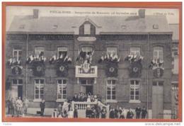 Carte Postale 59. Poix-du-Nord Inauguration  L'hotel De Ville   Trés Beau Plan - France
