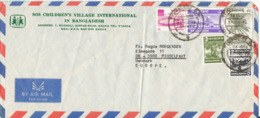 Bangladesh Air Mail Cover SOS Children's Village International Sent To Denmark 1978 Topic Stamps (bended Cover) - Bangladesh