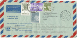 Bangladesh Air Mail Cover SOS Children's Village International Sent To Denmark 1976 Topic Stamps - Bangladesh